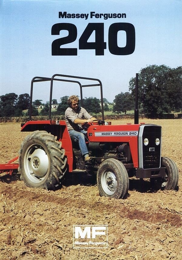 Mf 240 Tractor Grill : Massey ferguson mf tractor parts manual pgs for