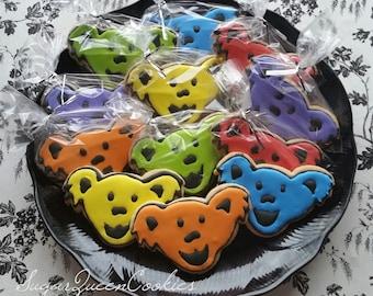 Grateful dead bears sugar cookies