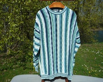 FIUME Italian cotton blend blue XL sweater