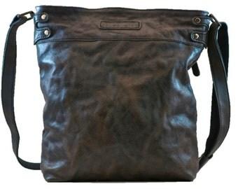 Ladies Cross Over Leather Satchel Bag