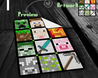 Items similar to reading blankets for quiet time on etsy for Minecraft fabric by the yard