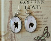 Earrings Le Chat Noir