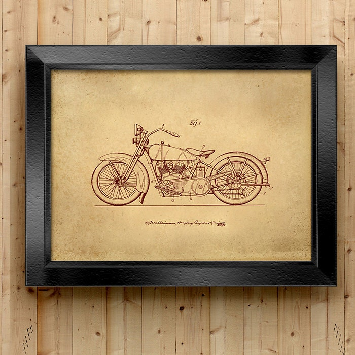 Home Decor Vintage Motorcycle Printable Motorcycle Art