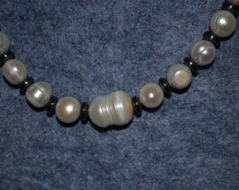 Freshwater Pearls and Hematite