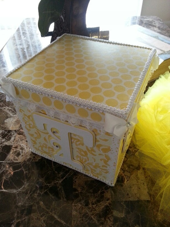 yellow and white personalized tutu storage box by. Black Bedroom Furniture Sets. Home Design Ideas