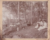 Fourth of July Family Picnic Cabinet Card Photograph