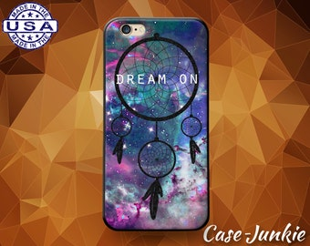 Dream On Dream Catcher Quote Tumblr Space Galaxy Cute Custom Case For iPhone 5 and 5s and 5c and iPhone 6 and 6 Plus + and iPhone SE Case