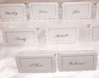 Hand scripted place cards