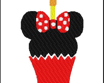 Minnie Mouse Cupcake Embroidery Design
