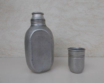 Soviet Military Flask / Military Water Bottle / Vintage Military Flask / Aluminium Flask