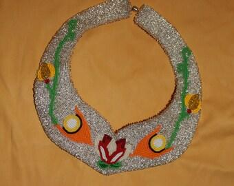 Native American Ojibwe Beaded Collar