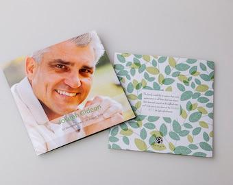Memorial Card Template (square booklet)