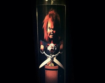 "Child's Play Chucky 2x8"" Horror Candle from Toxxic Candles"