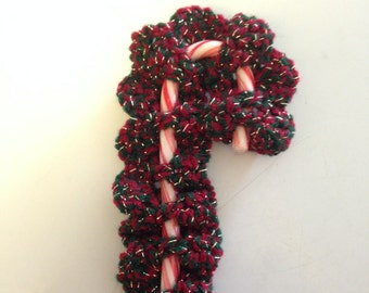 crocheted candy cane cover