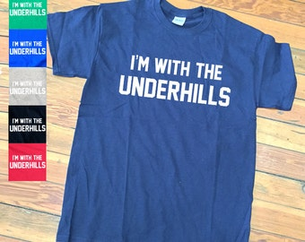 I'm with The Underhills Fletch T shirt   Funny Movie quote Tees-F11