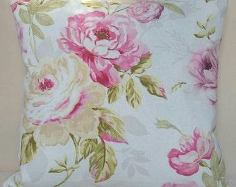 Pink Floral Cushion - 45x45cm