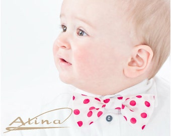 Baptismal accessory - bow tie, Silk Baby bow tie, Boys bow tie, Wedding bow ties, Baptism bow tie
