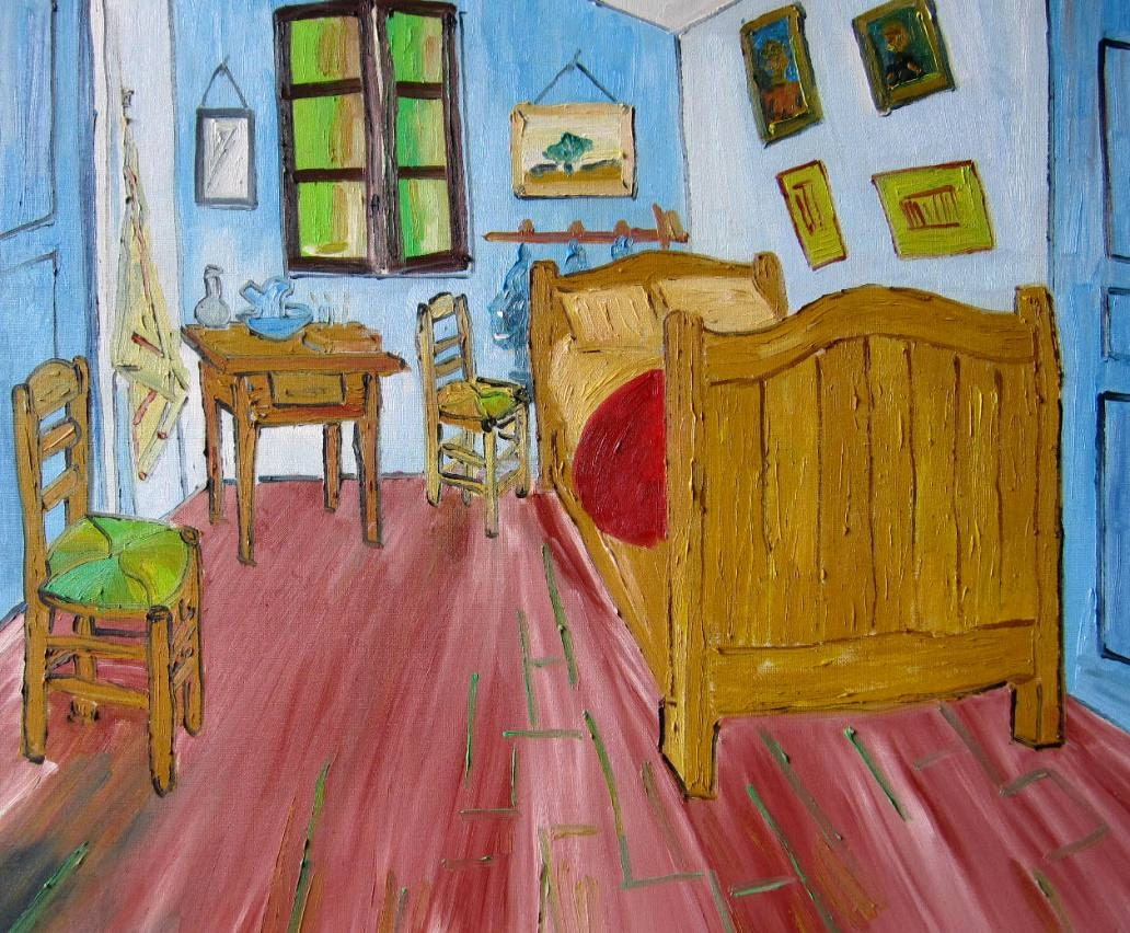vincent van gogh the bedroom hand painted oil painting 60x50