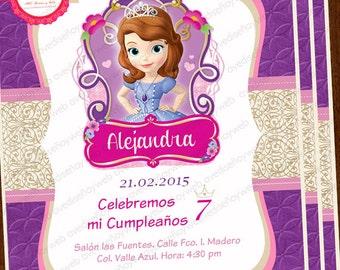 Invitations Sofia the First, Sofia the First Party, Sofia the First Birthday, Disney Sofia the First Princess