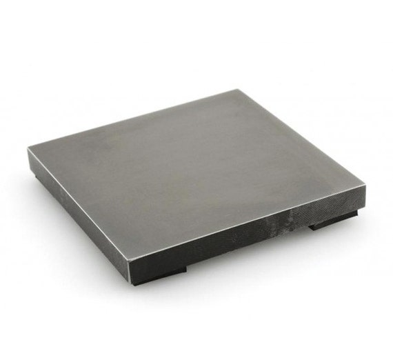 Large Steel Bench Block With Rubber Feet Impressart