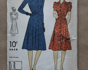 Du Barry 2435B   Vintage sewing pattern 1930's