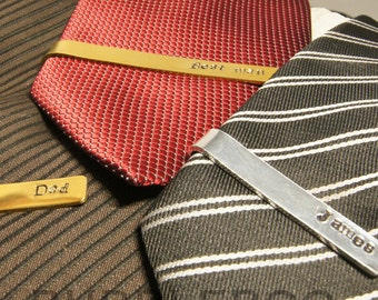 Personalised Tie Clip for the special occasion. Tie Pin. Stick Pin. Mens apparel, Suit accessories. Put a name on it.