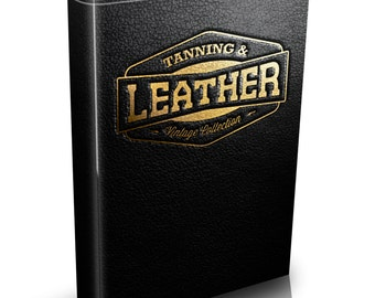 Leather Work - Old Collection - 50 Rare Vintage Books on DVD Tanning Hide Shoe Skin
