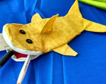 Shark bag- goldenrod