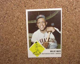 Willie Mays 1963 FLEER Baseball Card - San Francisco Giants Card Number 5 - Excellent Condition