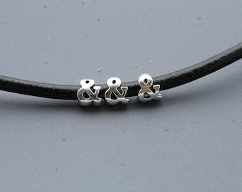 15 sliders, 5mm cord sliders, round cord slider, bracelet slider, 5mm round cord slider, bracelet finding (T195C)QTY15