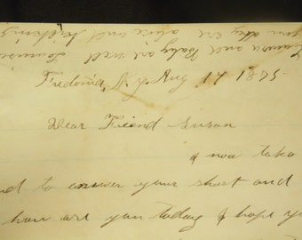 1875 Handwritten Letter Fredonia NY Antique Correspondence Dear Friend