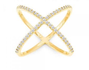 Criss cross ring, x ring, crisscross ring, x cross ring, silver x cross ring, gold x cross ring, criss cross rings, x cross rings, x rings