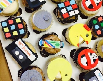 80s cupcake toppers on Etsy, a global handmade and vintage ...