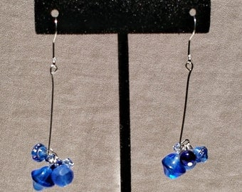 Funky Blue Dangles by Sparrow  Sku 10