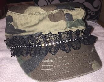 Camo cadet garter belt hat