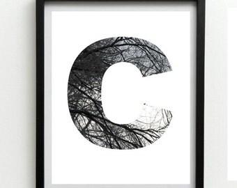 Home and Living, Custom Print, Monogram Art, Initial Letters Print, Monogram Art,  Printable Wall Art,Typography Print, digital Download