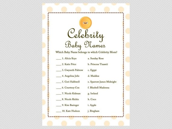 Celebrity Baby Names Game Celebrity Mom Game Cute As A