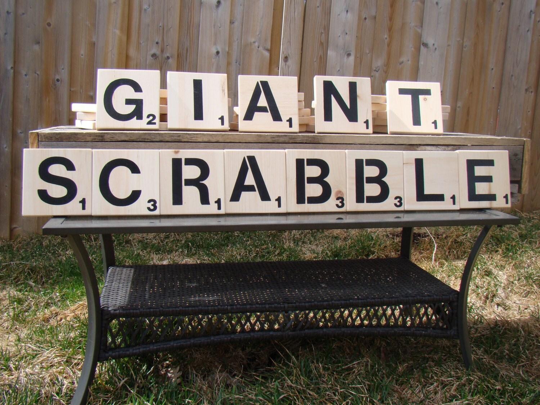 Backyard Scrabble Tiles : Giant Scrabble Game perfect for backyard by BackyardGamesCo