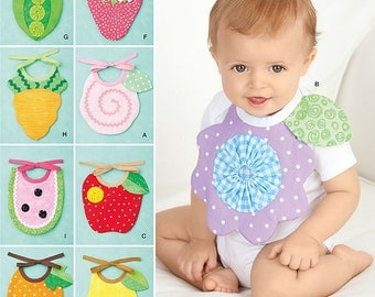 Simplicity Pattern 2273 . Baby Bibs. One Size