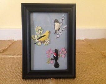 Recycled Picture Frame With Decorative Accents