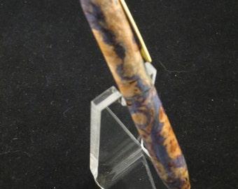 Dyed Maple Burl Twist Pen #13