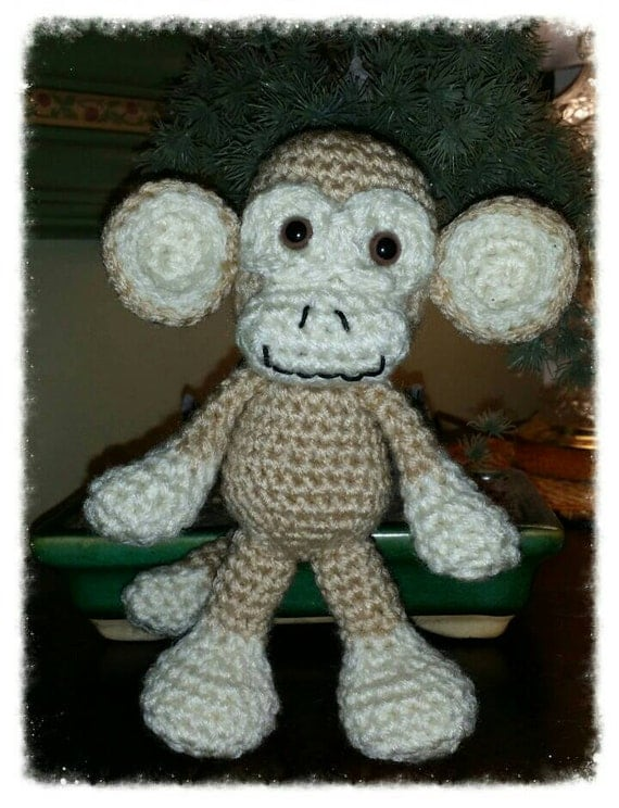 Amigurumi Monkey Etsy : Milo the Monkey a handmade Amigurumi toy by ...