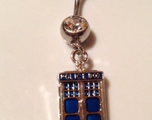 Dr. Who Tardis Inspired Belly Button Ring