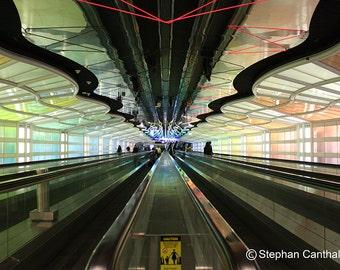 Chicago Airport, Photography,  Home Decor, Walkalator