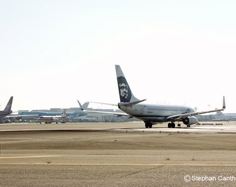 LAX 16, Alaska Airlines, Airport, Airplane, Los Angeles, Photography, Home Decor