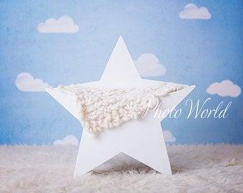 Newborn Wooden Star Photography Digital Backdrop / Prop