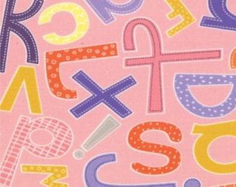 SALE - ABC Menagerie Bubble Gum by Abi Hall for Moda Fabrics - 39522 17