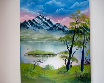 "oil painting "" mountain lake """