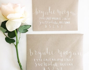 Custom Calligraphy, Envelope Addressing, Wedding Envelopes, Save the Dates, Invitation addressing