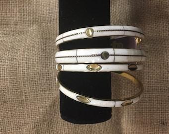 Cream and Gold bangles